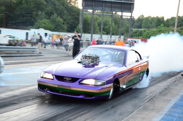 Big Block Chevy powered Ford Mustang drag car