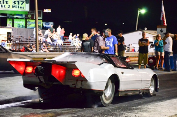 Chevy Corvette Drag Racing