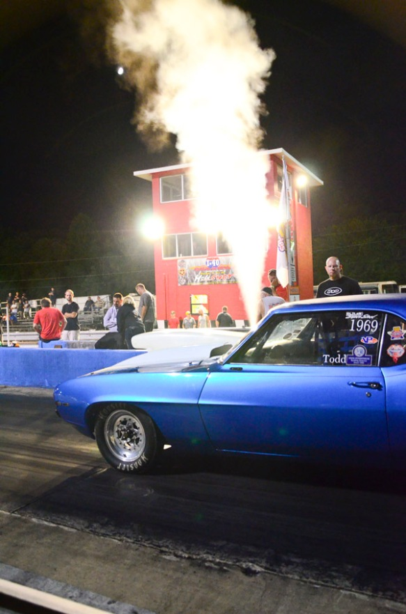 Nitrous big block Chevy Camaro Drag Car