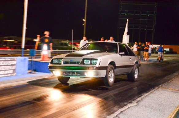 Stock suspension fox body Mustang drag racing