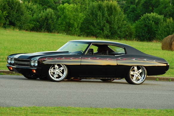 Black 1970 Chevelle Pro Touring