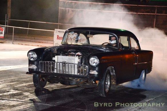 55 Chevy Burnout