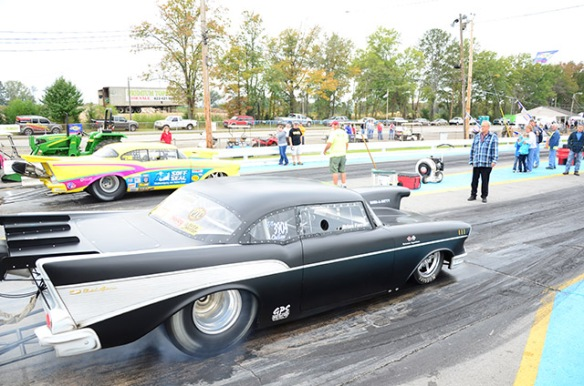 57 chevy drag car